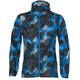 asics fuzeX Packable Jacket Men camo geo directoire blue
